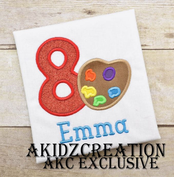 paint pallet embroidery design, paint embroidery design, akidzcreation, school embroidery, art embroidery, art supplies embroidery, birthday paint shirts embroidery design, birthday paint embroidery design, akidzcreation