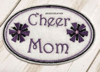 cheer mom embroidery design, in the hoop cheer mom hat patch, in the hoop hat patch, in the hoop embroidery, cheer mom embroidery