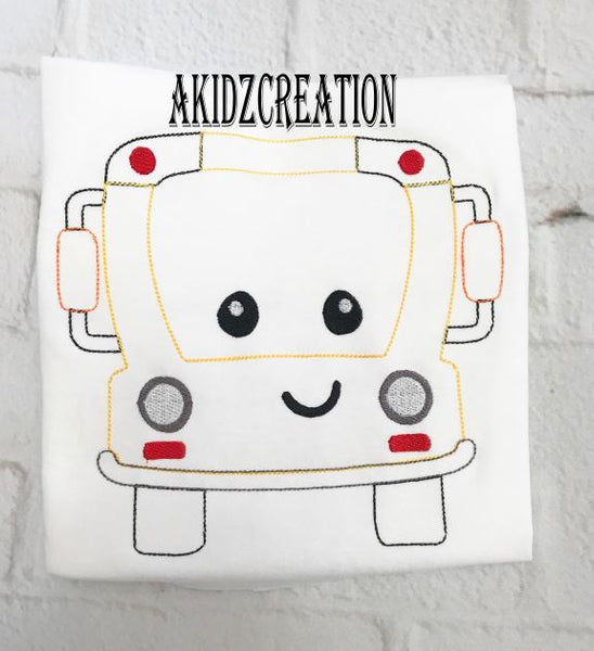 school embroidery, school design, school bus embridery
