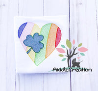 shamrock heart embroidery design, shamrock embroidery design, clover embroidery design, rainbow embroidery design, heart embroidery design, sketch embroidery design, sketch clover embroidery design, sketch shamrock embroidery design