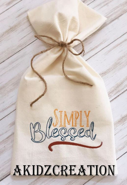 simply blessed embroidery design, saying embroidery design, religious embroidery design, simply blessed embroidery design
