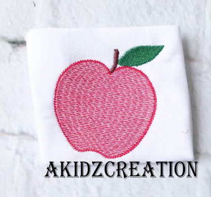 sketch apple embroidery design, sketch apple embroidery file, sketch apple embroidery pattern, apple applique, apple embroidery design, food embroidery design, sketch food embroidery design, school embroidery design, school apple embroidery design