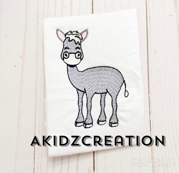 sketch donkey embroidery design, donkey embroidery design, sketch donkey design, nativity embroidery design, christmas embroidery design, sketch embroidery design