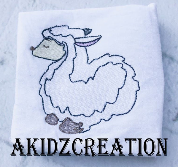 sketch sheep, sketch lamb, animal embroidery design, christmas embroidery design, sheep design, lamb design, barn animal embroidery design