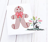 gingerbread embroidery design, sketch gingerbread embroidery design, gingerbread cookie emrboidery design, sketch embroidery design, christmas embroidery design, machine embroidery christmas design, christmas gingerbread embroidery design, christmas in july embroidery design