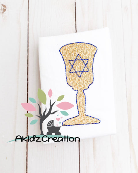 sketch kiddish cup embroidery design, kiddish cup design, machine embroidery kiddish cup design, hanukkah embroidery design, sketch hanukkah embroidery design, star of david embroidery design