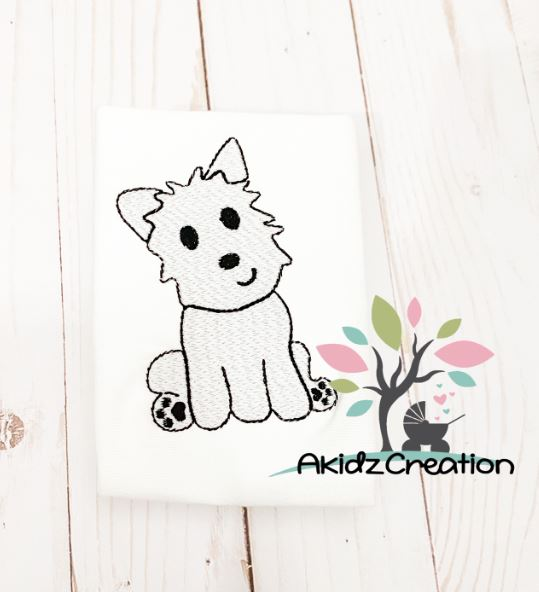 sketch puppy, sketch dog, sketch westie, embroidery design, akidzcreation, westland terrier embroidery design, dog embroidery design, puppy embroidery design, sketch dog embroidery design, sketch puppy embroidery design, westie embroidery design, sketch westie embroidery design