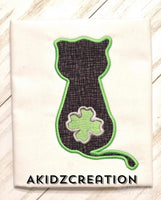 st patricks day embroidery design, st patricks day cat embroidery design, cat embroidery, cat applique, applique, st patricks day cat embroidery