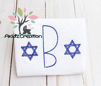 star of david monogram embroidery design, star of david embroidery design, sketch star of david design, mini star of david embroidery design, jewish embroidery design, hanukkah embroidery design
