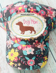 ith weenie dog mom hat patch, ith hat patch, in the hoop embroidery, weenie dog embroidery, dachshund embroidery