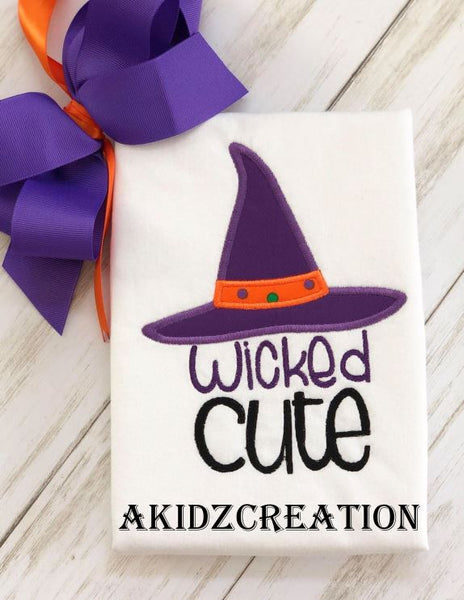wickedly cute embroidery design, witch embroidery design, , halloween embroidery
