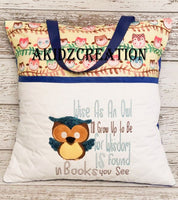 wise owl reading pillow embroidery pattern, pocket pillow, reading pillow design, reading pillow embroidery design, owl applique, owl embroidery design, vintage owl embroidery design, bean stitch owl design, embroidery file, embroidery pattern, akidzcreation