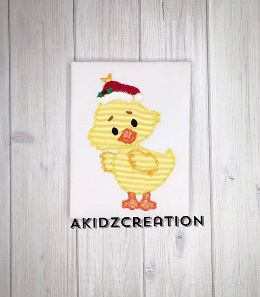 christmas embroidery design, christmas duck embroidery design, santa hat embroidery design, christmas duck embroidery design, rubber duck embroidery design, duck embroidery design, applique, zig zag applique,