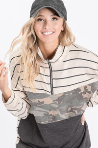 All You Need Camo Pullover