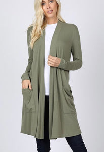 Trent Cardigan Light Olive
