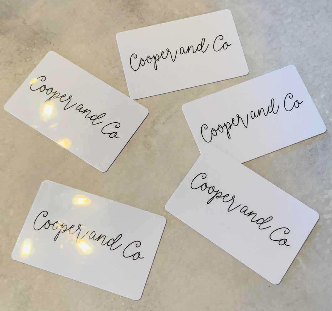 Cooper and Co Gift Card