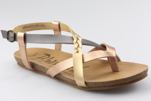 Pearl Rose Gold Granola Sandals