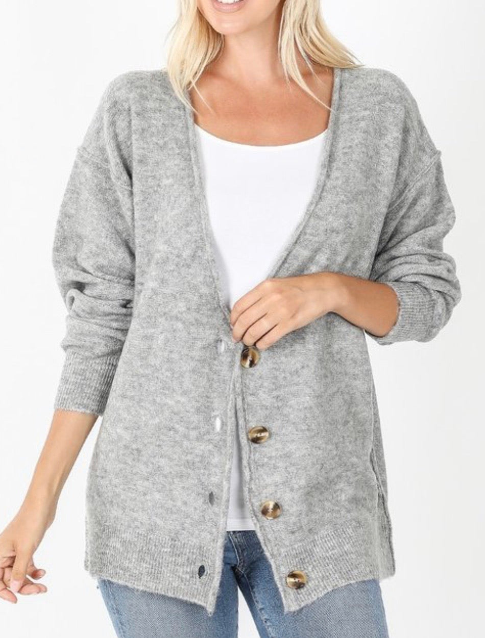Cambridge Cardigan Gray