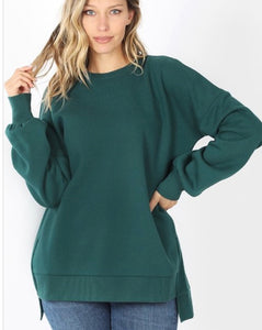 Let's Lounge Sweatshirt Pine