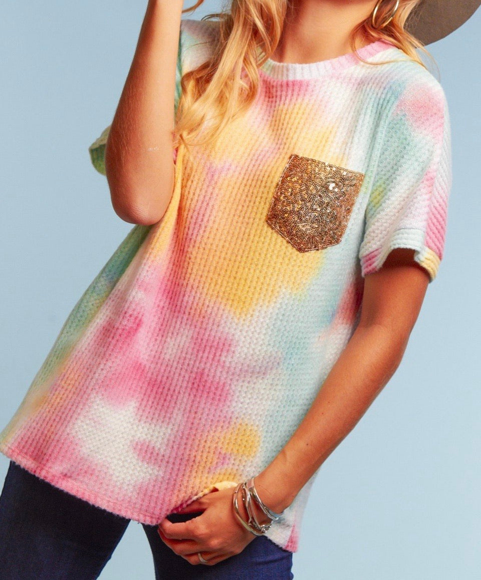 Happy Thoughts Tie Dye Top {regular and curvy sizes}