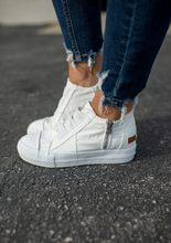 Load image into Gallery viewer, White Wedge Sneaker