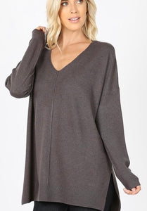 So Lux Sweater Charcoal