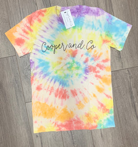 Cooper and Co Logo Tie Dye Tee {limited edition}