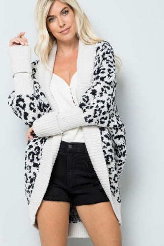 Leopard Dream Cardigan Cream and Black