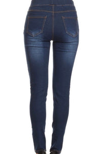 Freeland Jeggings Dark Distressed