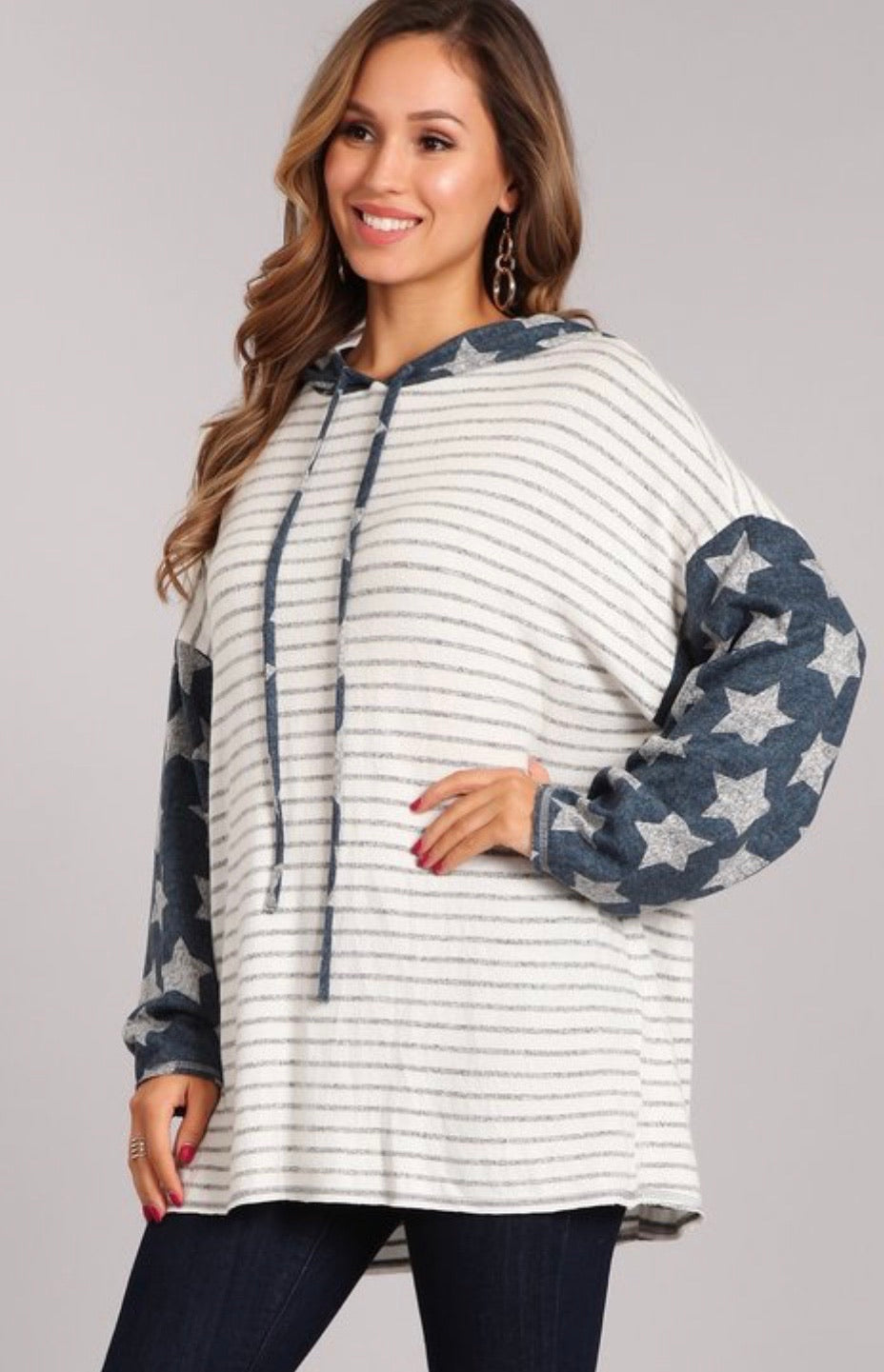 Stars and Stripes Hooded Sweatshirt