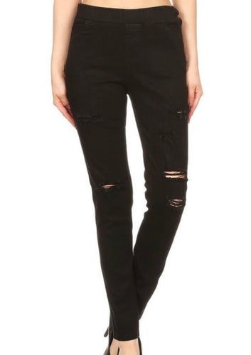 Freeland Jeggings Distressed Black