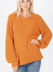 Easy Going Popcorn Sweater Marigold