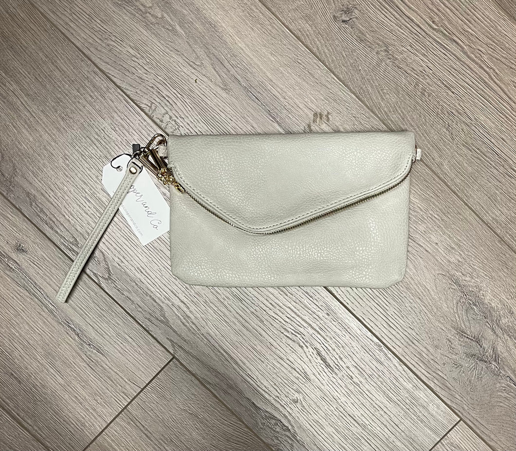 Gray Envelope Clutch and Crossbody