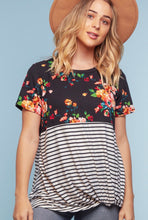 Load image into Gallery viewer, Floral Fever Knot Tee