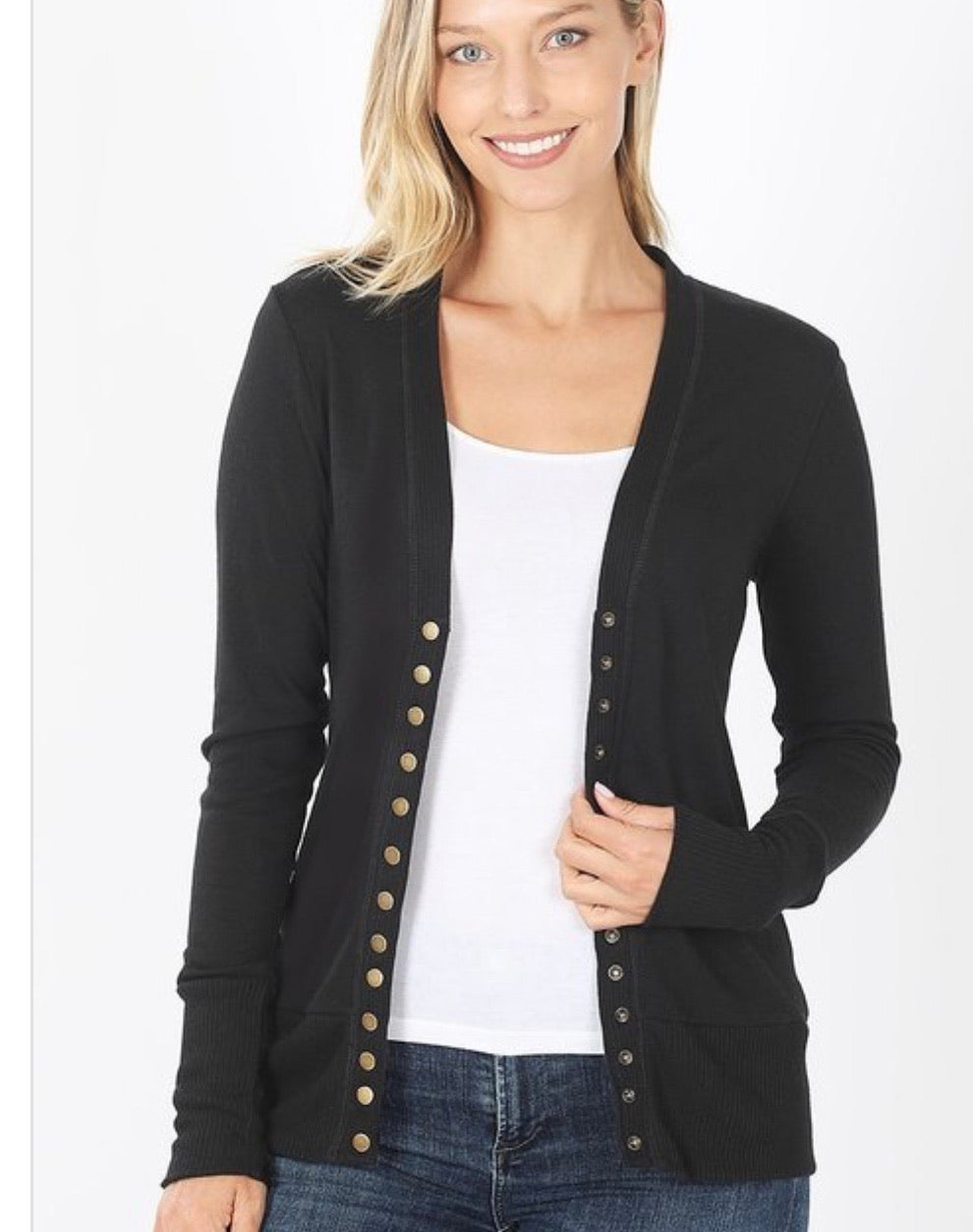 Top Notch Cardigan Black