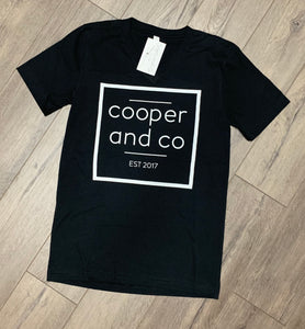 Cooper and Co Logo Tee Black Square
