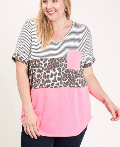 Better Off Leopard Curvy Top