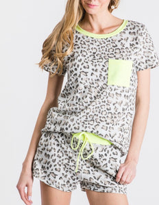 Lazy Days Leopard Lounge Tee