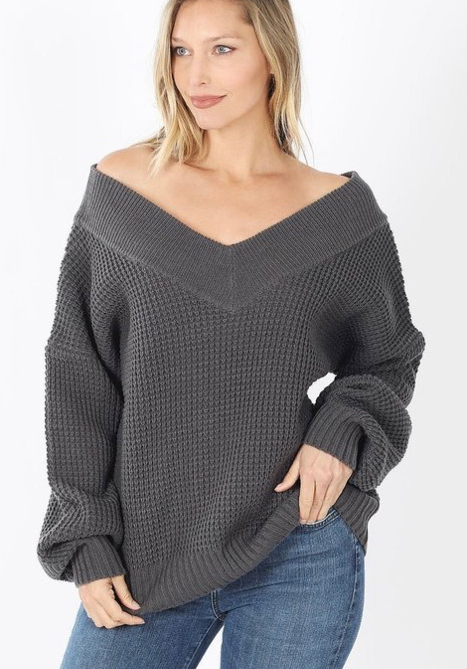 Signature Look Sweater Charcoal