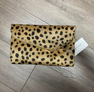 Leopard Envelope Clutch and Crossbody