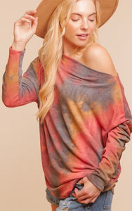 Sunset Tie Dye Dolman Top