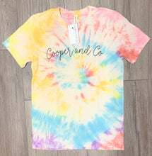 Load image into Gallery viewer, Cooper and Co Logo Tie Dye Tee {limited edition}