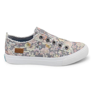 Gray Floral Sneaker