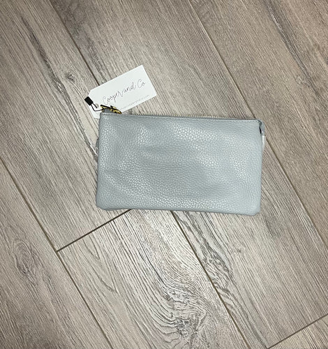 Dexter 3 in 1 Clutch Crossbody {gray}