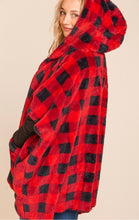 Load image into Gallery viewer, Red Plaid Poncho