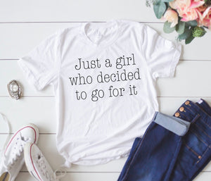 Just a Girl Graphic Tee