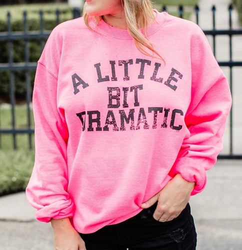 A Little Bit Dramatic Sweatshirt {Regular and Curvy}