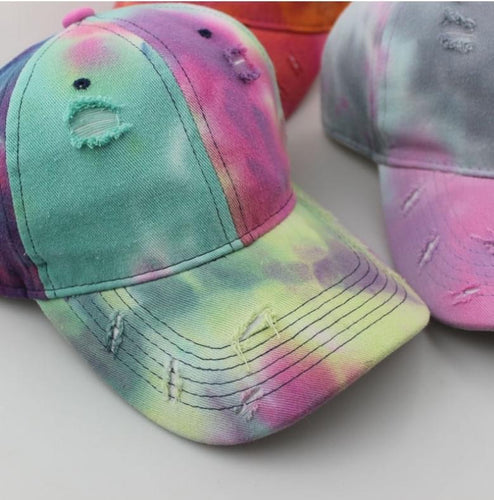 Distressed Tie Dye Hat