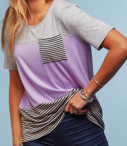 All Good Things Colorblock Top {regular and curvy sizes}
