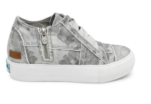 Gray Camo Wedge Sneaker